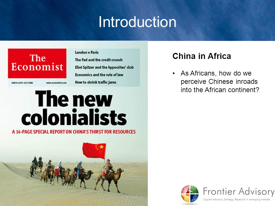 Introduction China in Africa