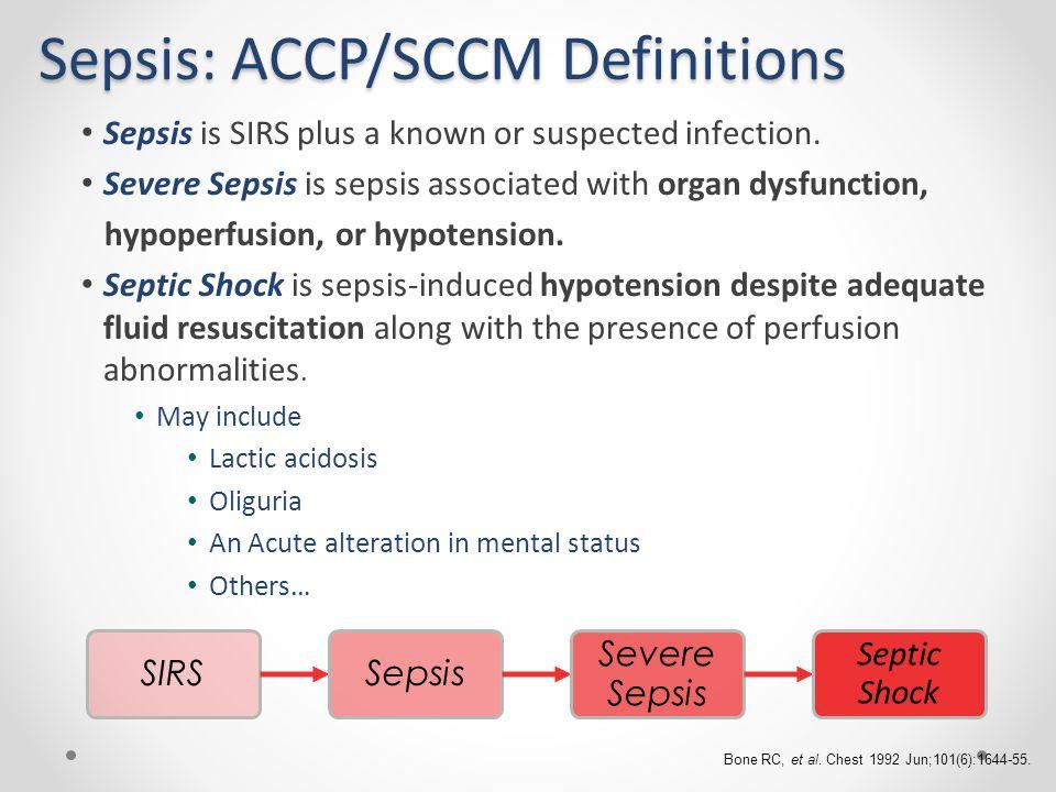 Sepsis: ACCP/SCCM Definitions