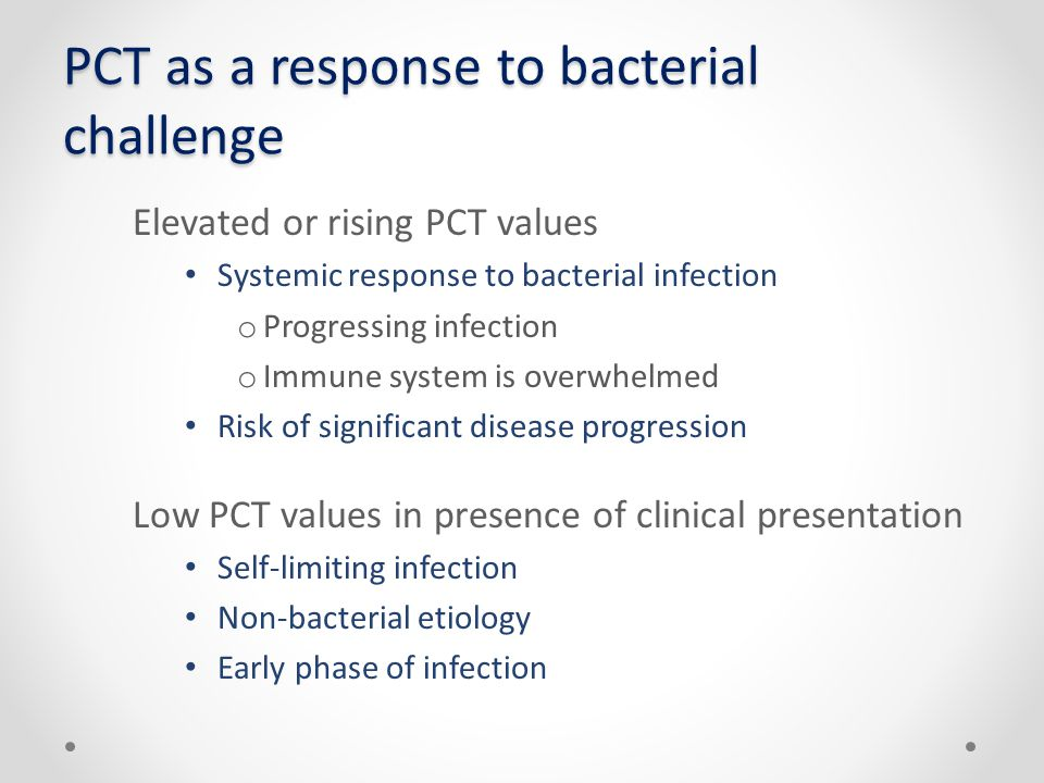 PCT as a response to bacterial challenge