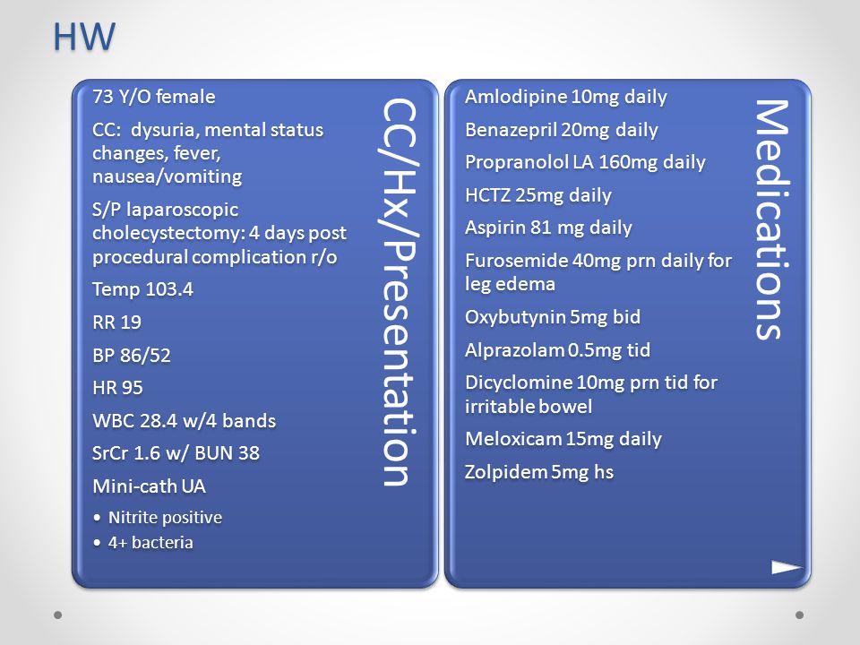 HW CC/Hx/Presentation.