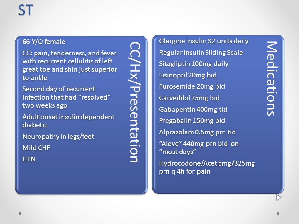 ST Glargine insulin 32 units daily Regular insulin Sliding Scale