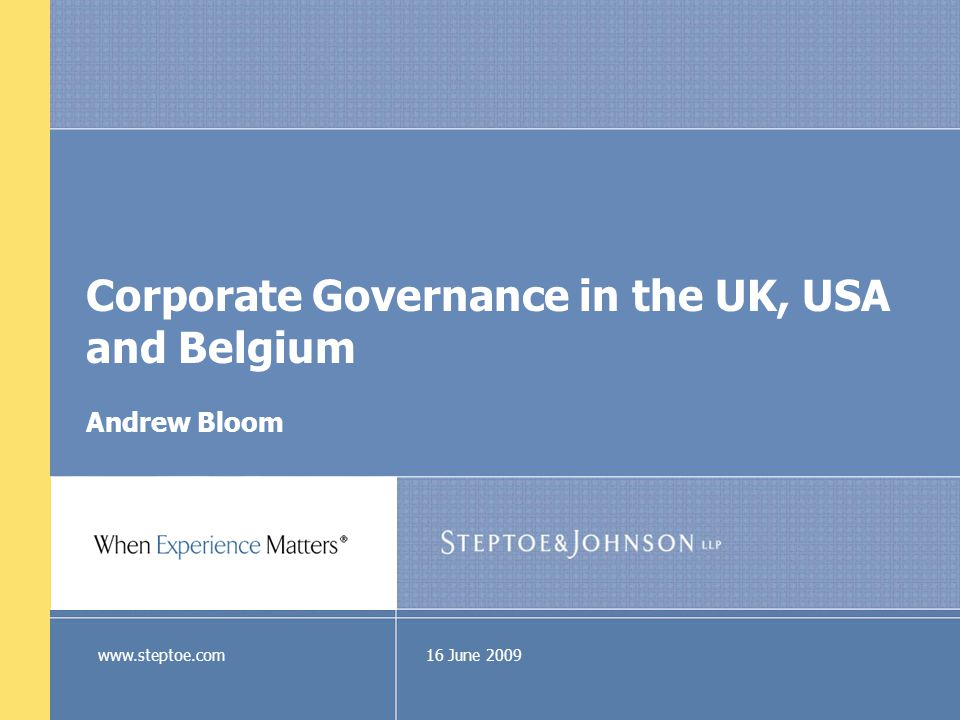 What is Corporate Governance The UK Government's View