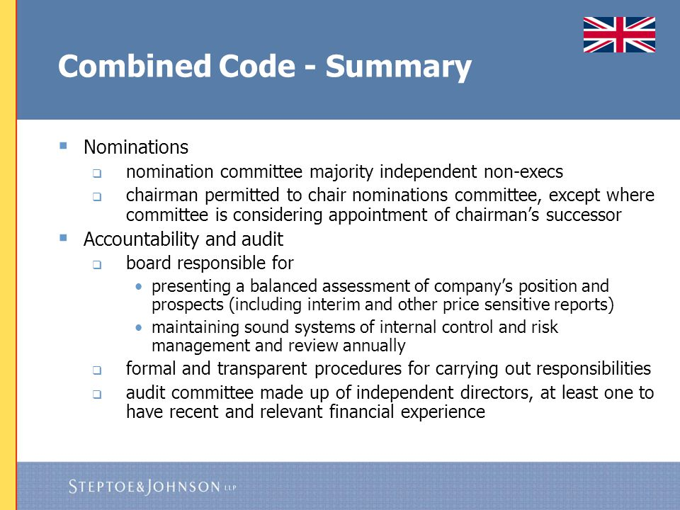 Combined Code - Summary
