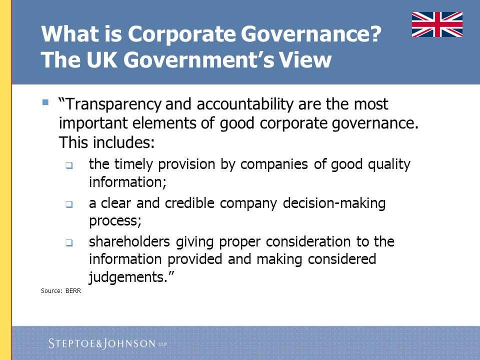 What is Corporate Governance The Accountants' View