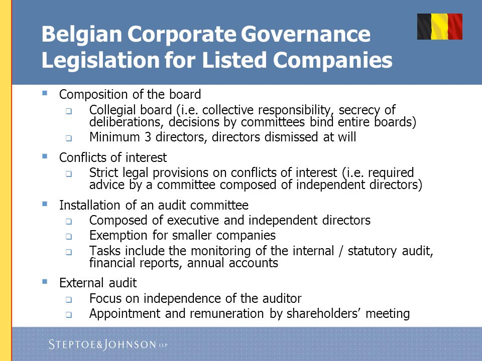 Belgian Corporate Governance Code 2009 for Listed Companies
