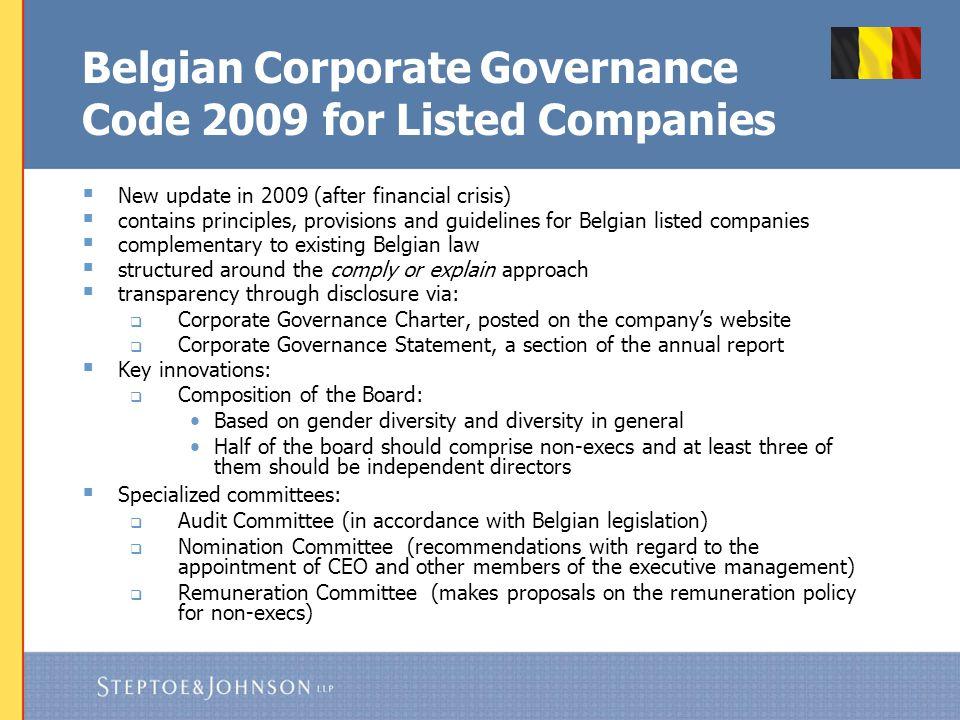 Corporate Governance in Belgium