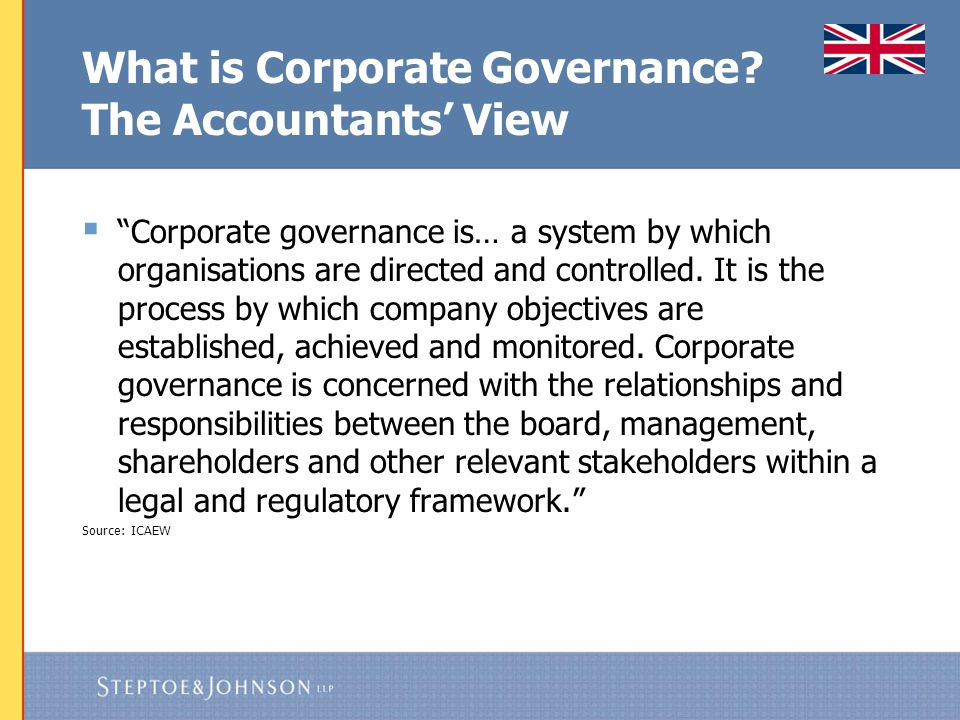 Sources of Corporate Governance rules in the UK