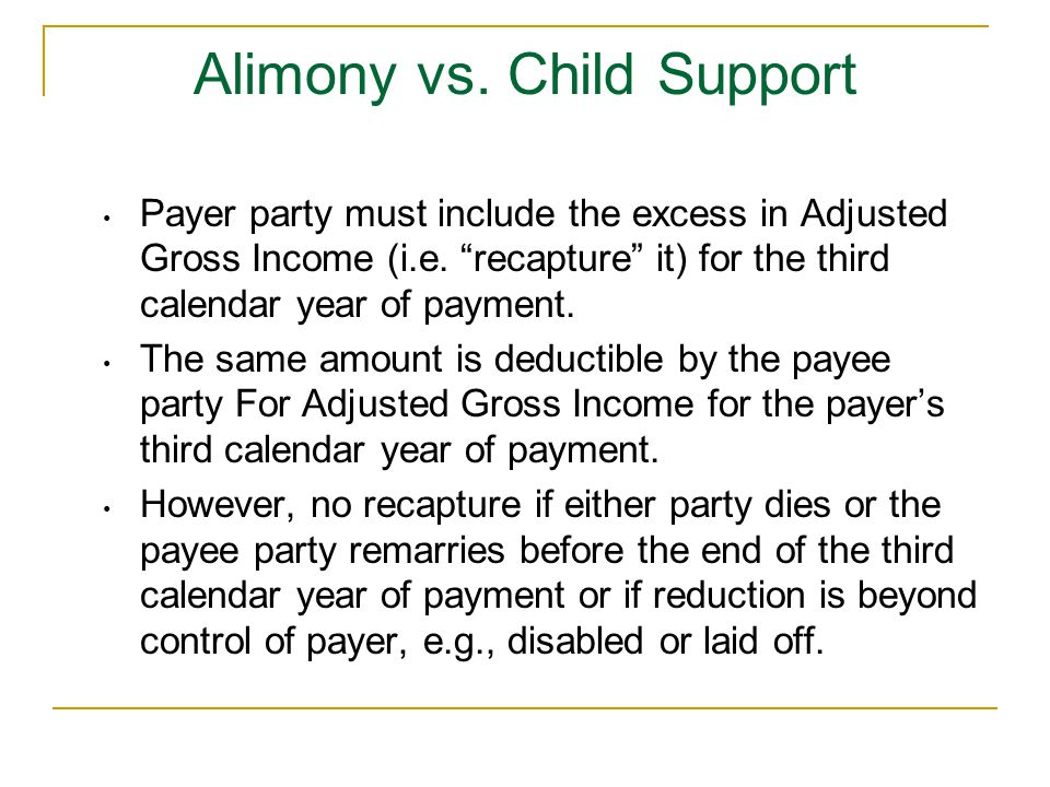 Alimony vs. Child Support