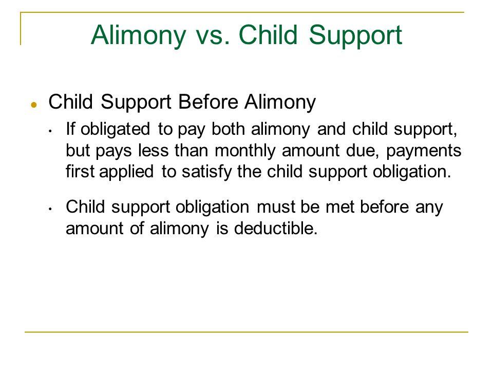 Alimony vs. Child Support