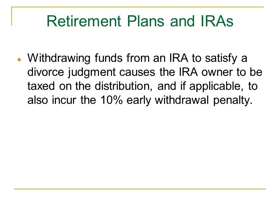 Retirement Plans and IRAs
