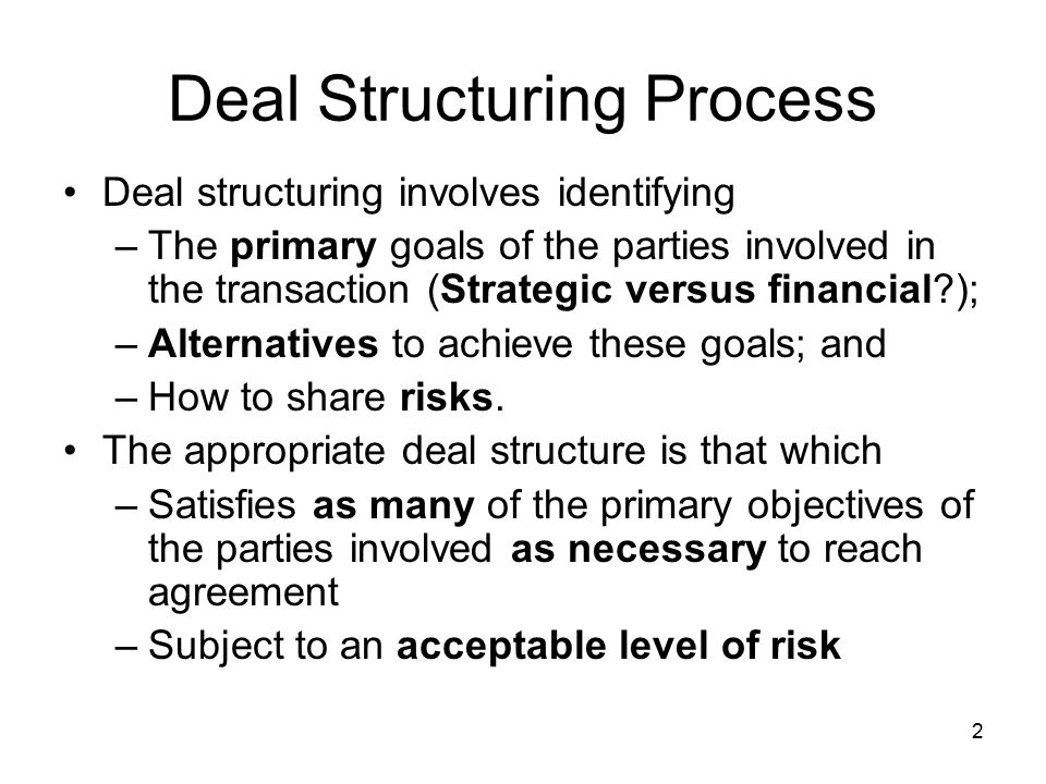 Deal Structuring Process