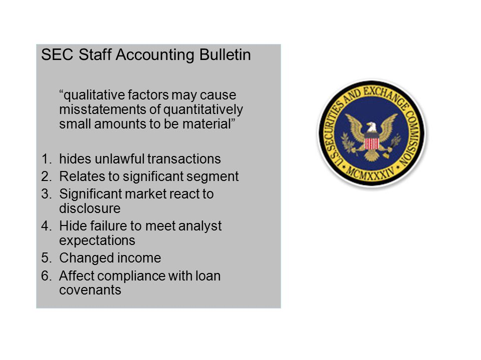 SEC Staff Accounting Bulletin