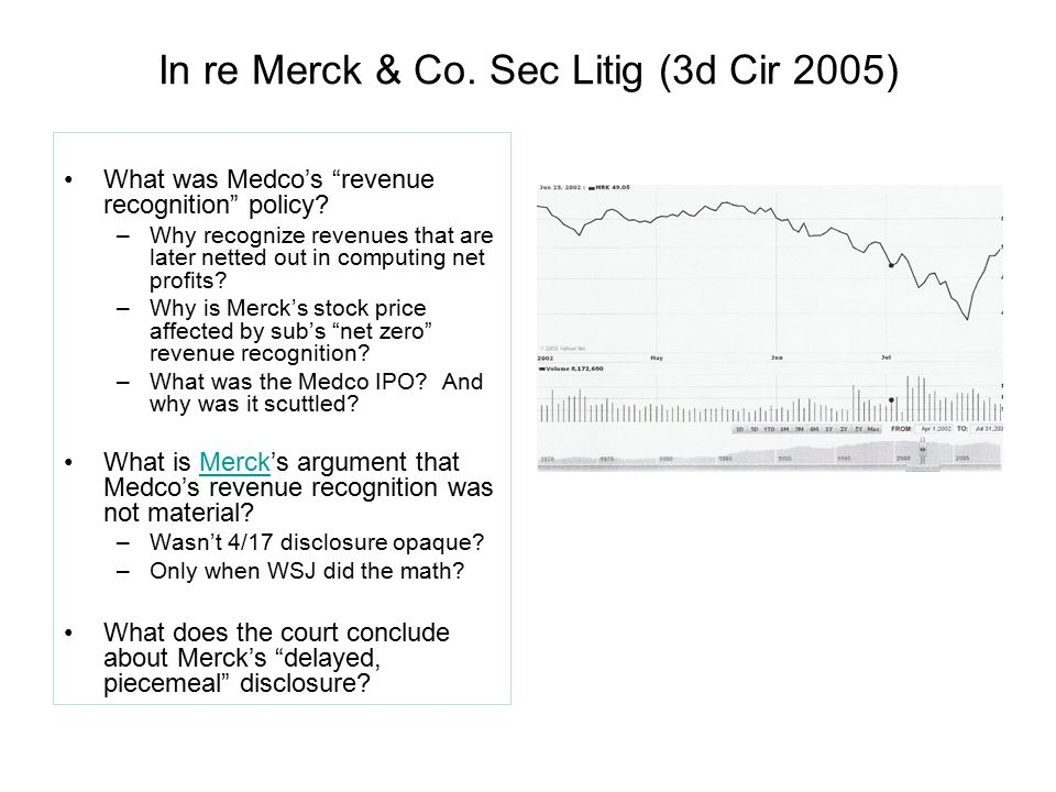 In re Merck & Co. Sec Litig (3d Cir 2005)