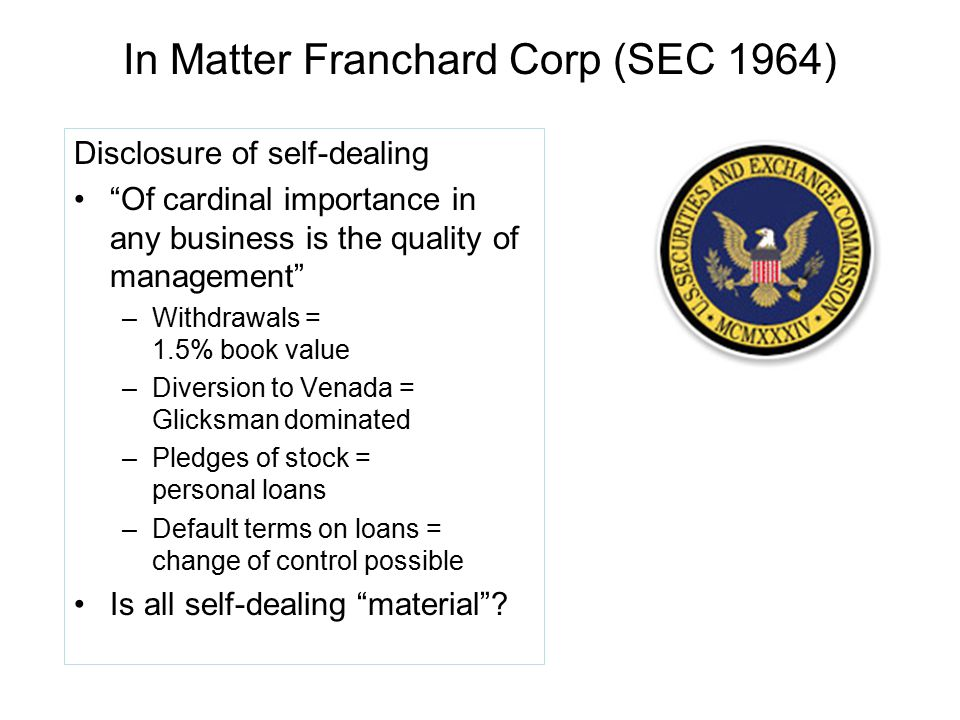 In Matter Franchard Corp (SEC 1964)