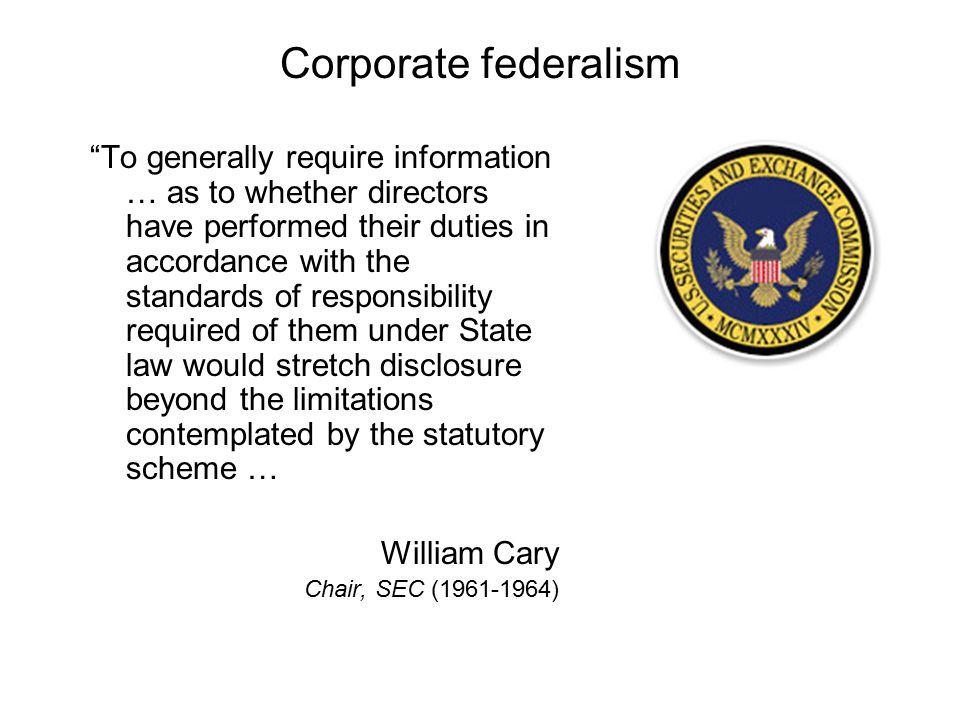 Corporate federalism