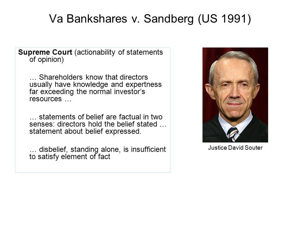 Va Bankshares v. Sandberg (US 1991)