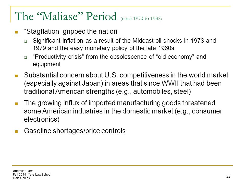 The Maliase Period (circa 1973 to 1982)