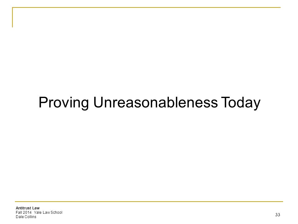 Proving Unreasonableness Today