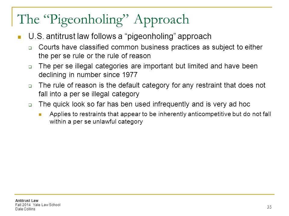 The Pigeonholing Approach
