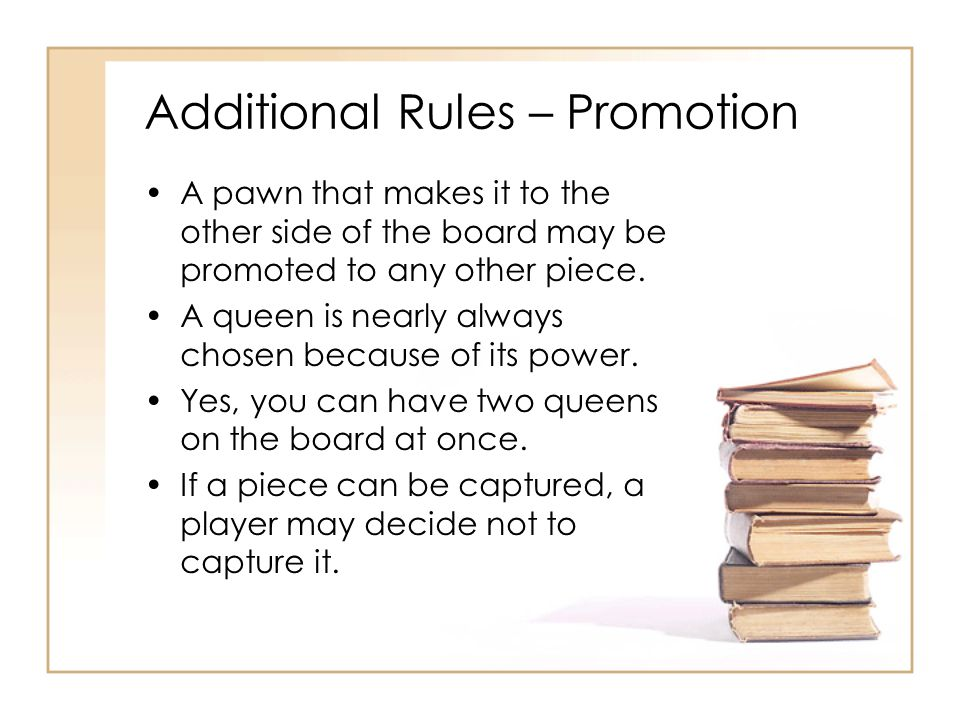 Additional Rules – Promotion