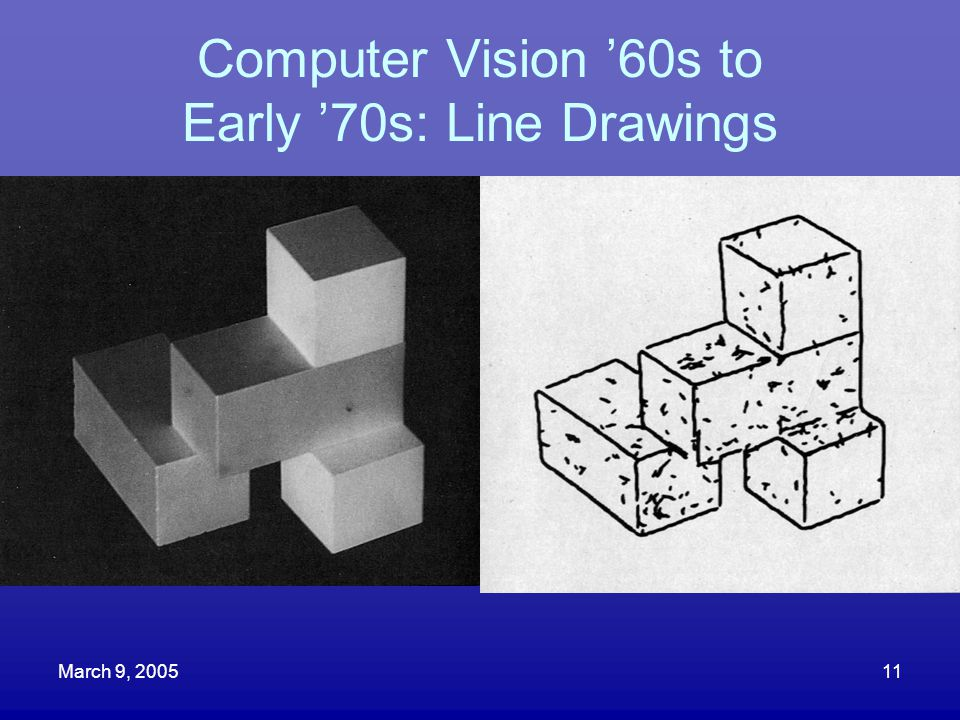 Computer Vision '60s to Early '70s: Line Drawings