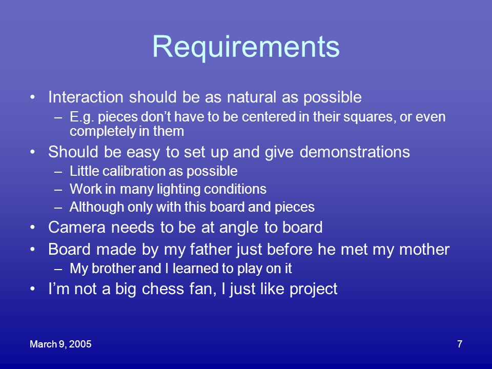 Requirements Interaction should be as natural as possible