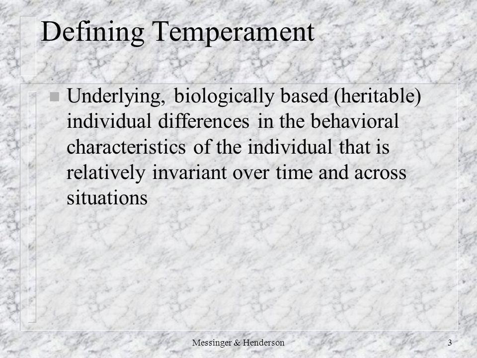 Defining Temperament