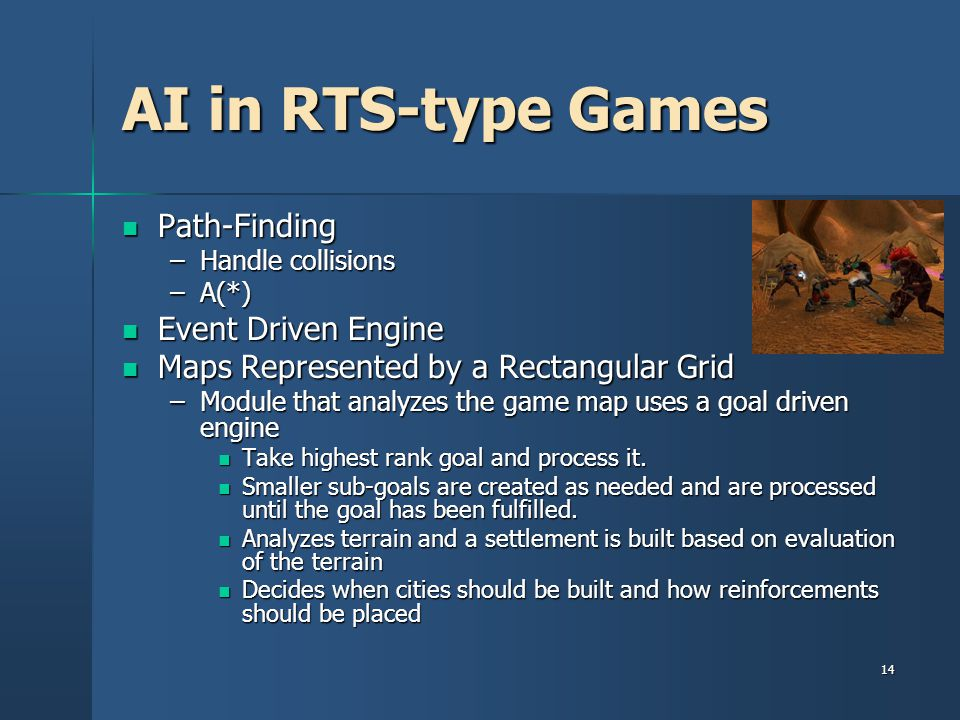 AI in RTS-type Games Path-Finding Event Driven Engine