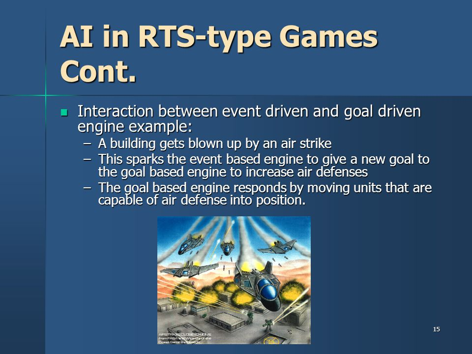 AI in RTS-type Games Cont.