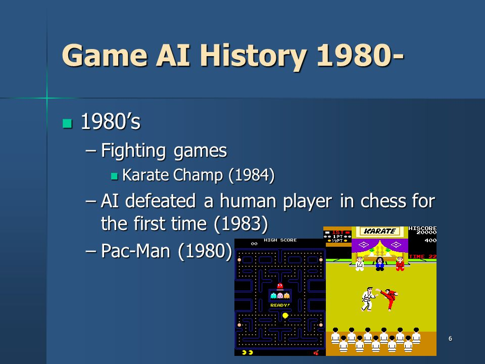 Game AI History 1980- 1980's Fighting games
