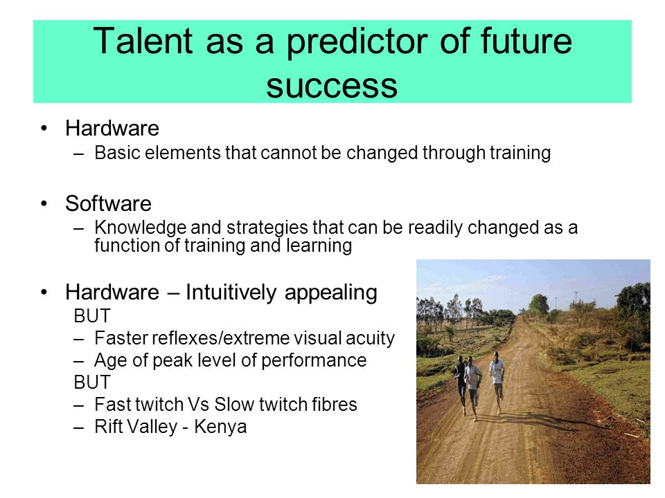 Talent as a predictor of future success