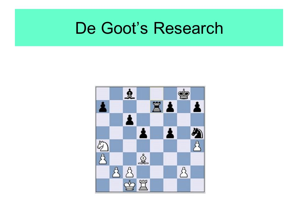 De Goot's Research