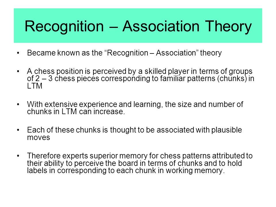 Recognition – Association Theory
