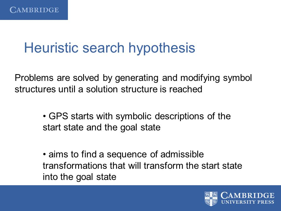 Heuristic search hypothesis