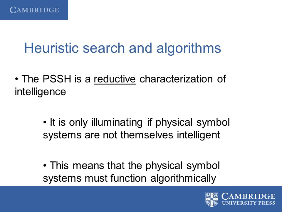 Heuristic search and algorithms