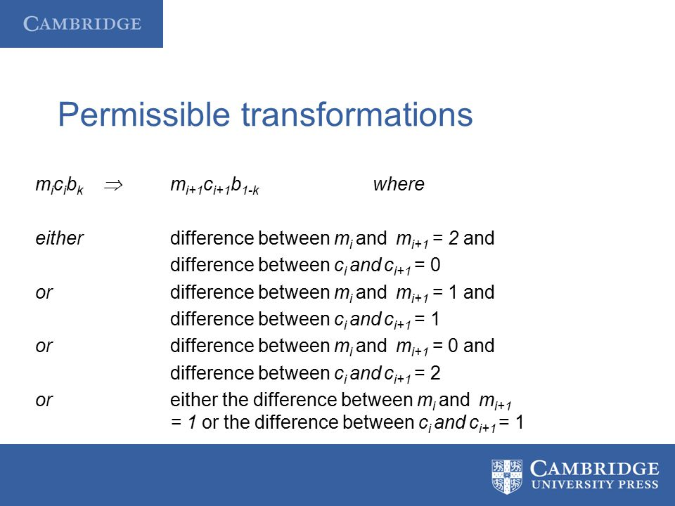 Permissible transformations