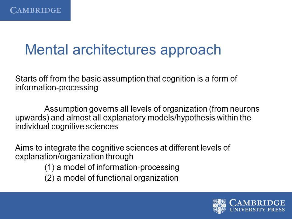 Mental architectures approach