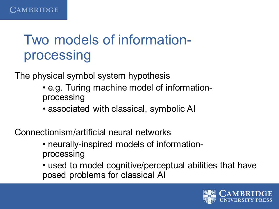 Two models of information-processing