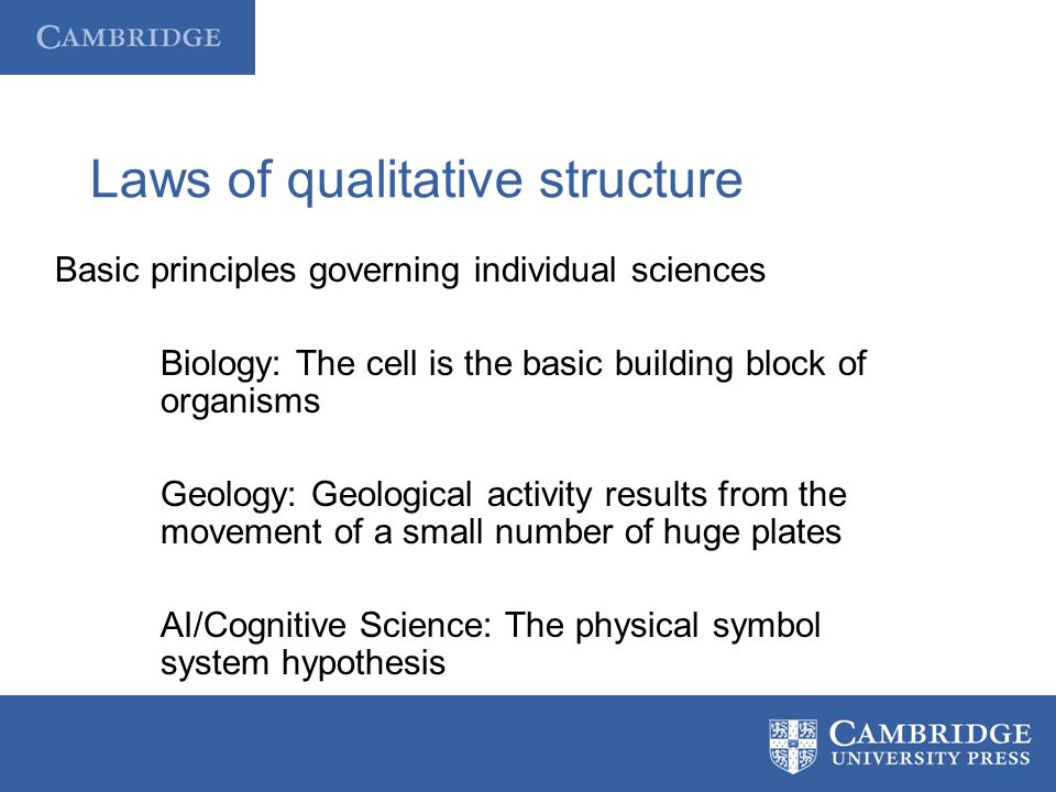 Laws of qualitative structure