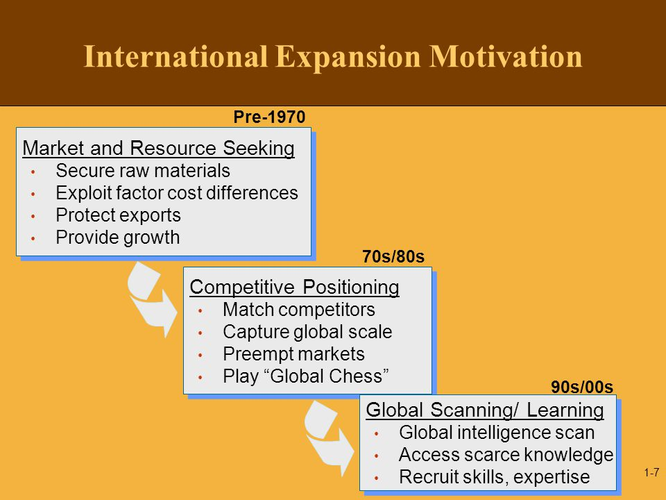 International Expansion Motivation