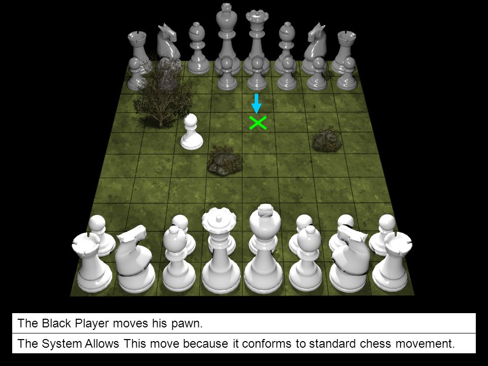 The Black Player moves his pawn.