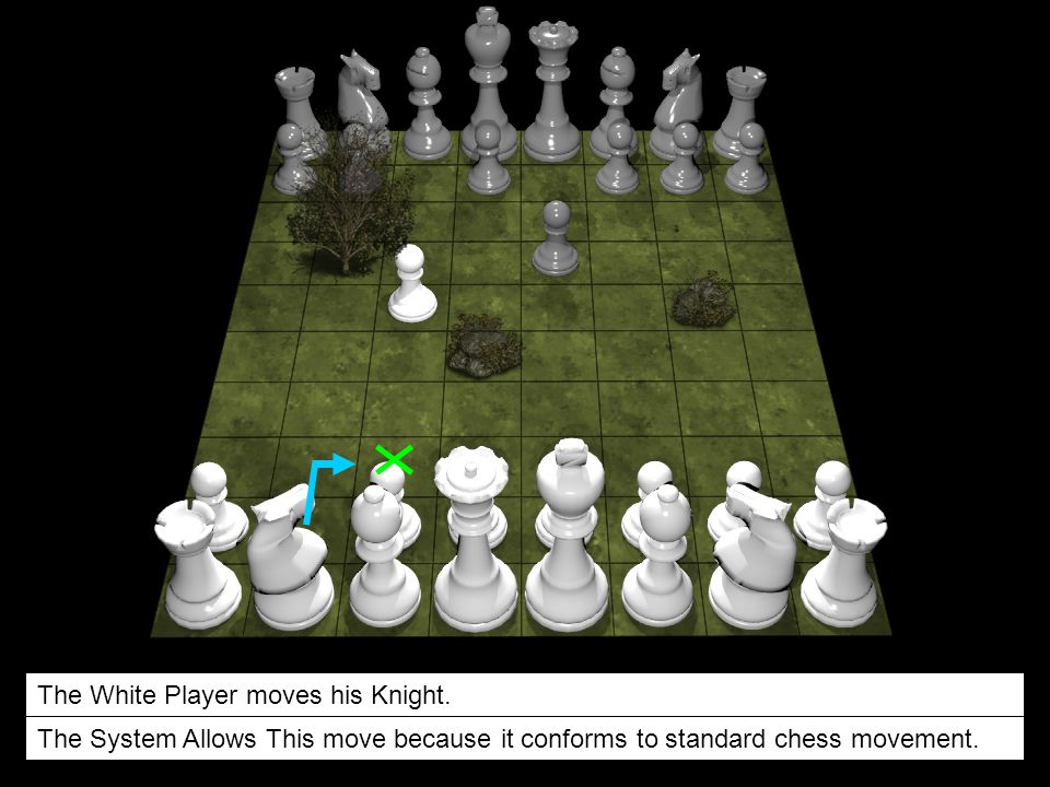 The White Player moves his Knight.