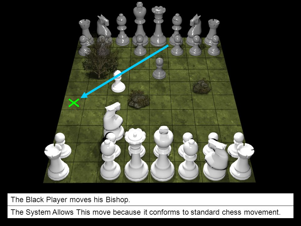 The Black Player moves his Bishop.