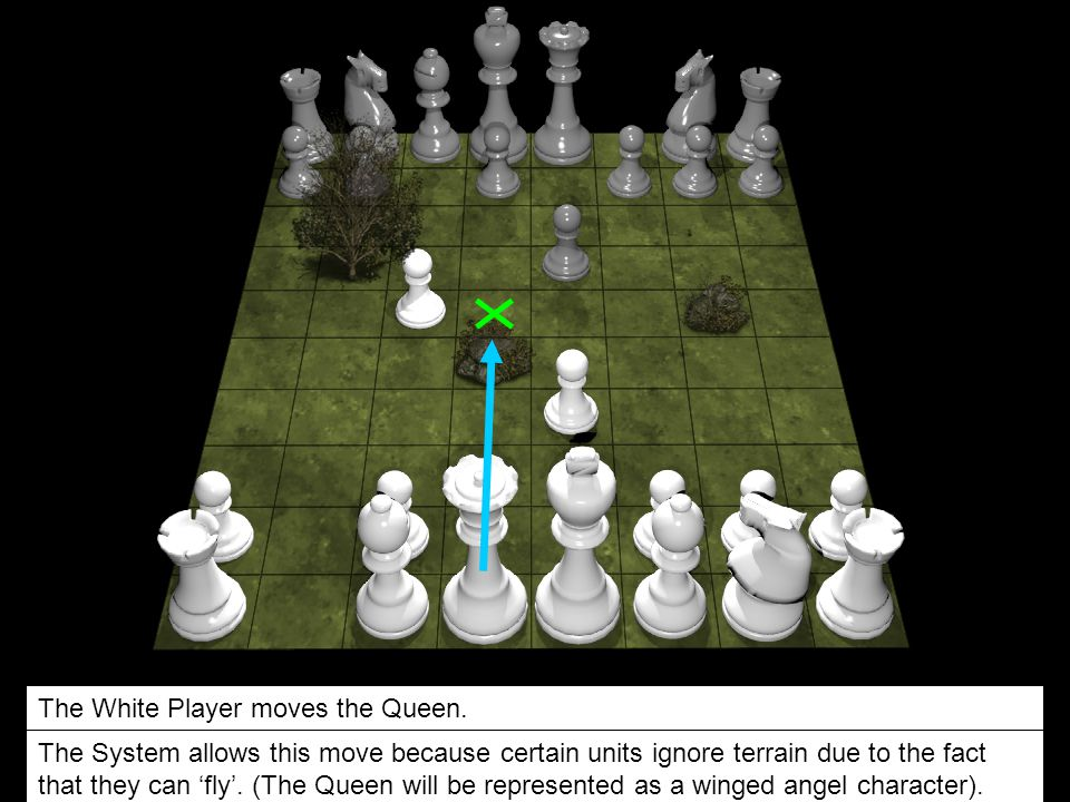 The White Player moves the Queen.