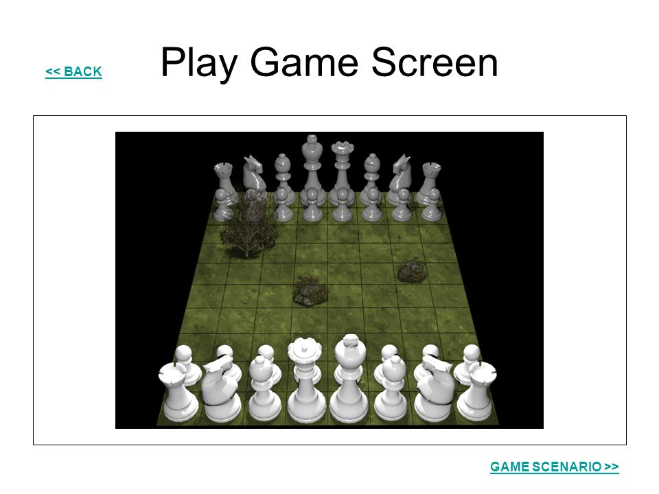 Play Game Screen << BACK GAME SCENARIO >>