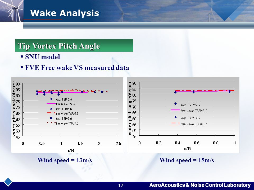 Wake Analysis Tip Vortex Pitch Angle SNU model