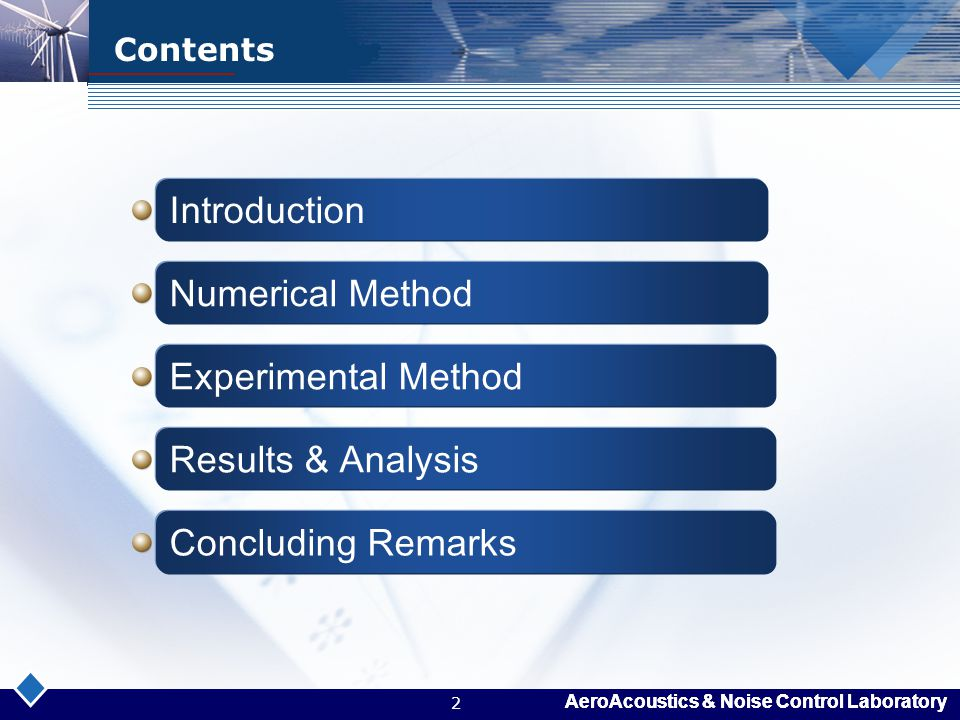 Introduction Numerical Method Experimental Method Results & Analysis