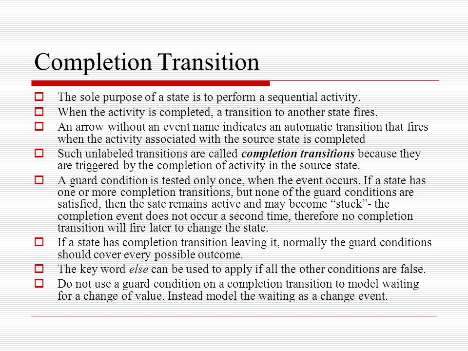 Completion Transition