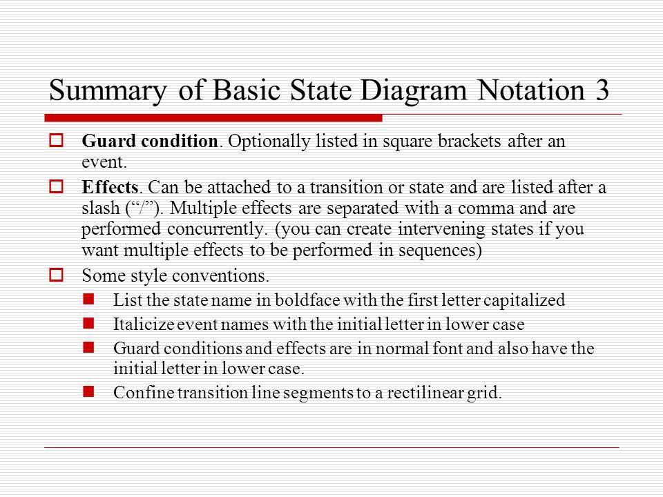 Summary of Basic State Diagram Notation 3