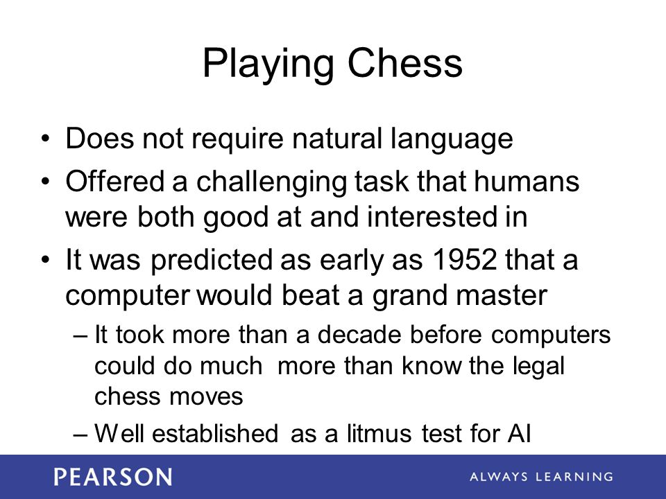 Playing Chess Does not require natural language